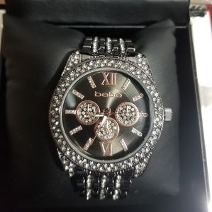 Bebe Blinged out black face watch. Brand New
